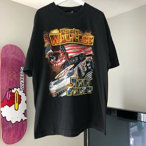 Vintage Rusty Wallace NASCAR Double Sided T-Shirt